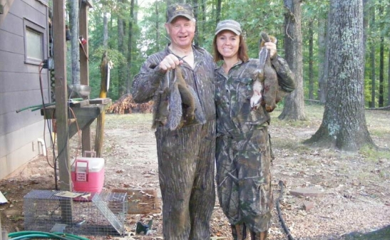 Candise with her favorite huntin' buddy, her dad!