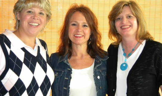 Candise w/ Reba Bowman (CEO of Dare for More) & Stephanie Sekura, wife of Dave (Director of Fort Bluff Camp, Dayton, TN)